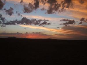Sonnenuntergang im absoluten Nichts