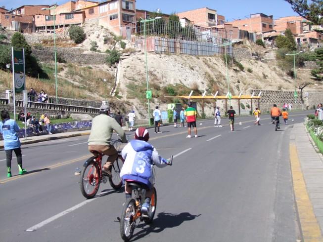 Fahrrad fahren in La Paz