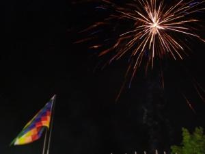 Feuerwerk für den neuen alten Präsidenten